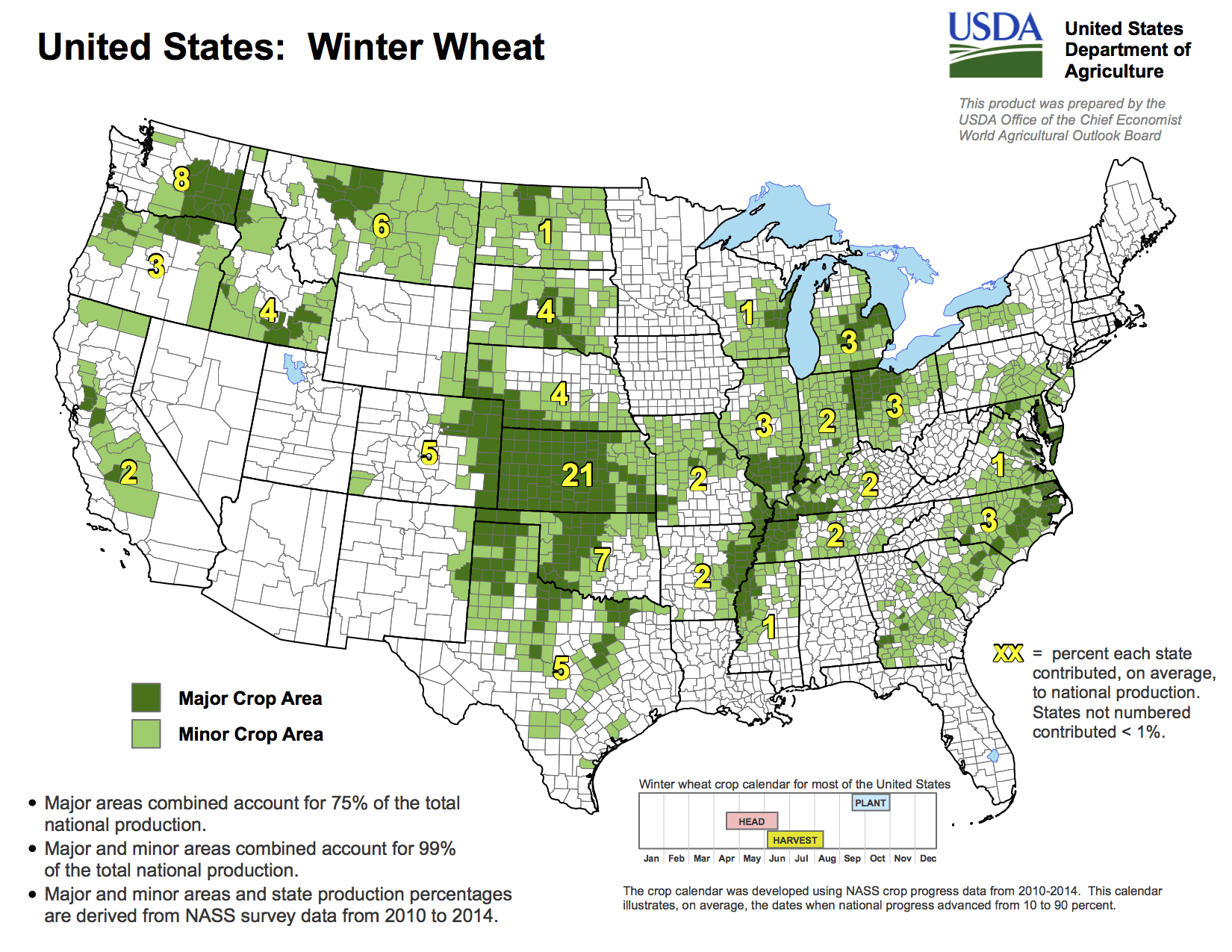 Production Maps  CRM AgriCommodities - Us wheat production map