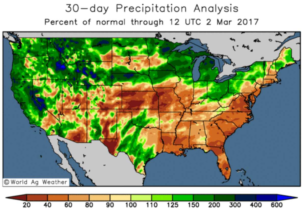 Benjamin Bodart  Page   CRM AgriCommodities - Us weather map 30 day